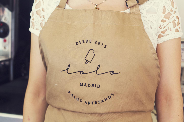 LOLO POLOS ARTESANOS logo delantal Chocolate agencia comunicación creatividad diseño gastronomía Madrid